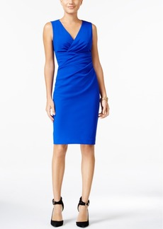 Betsey Johnson V-Neck Ruched Sheath Dress