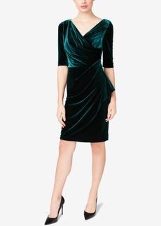 Betsey Johnson Velvet Surplice Wrap Dress