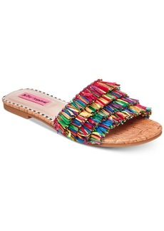 Betsey Johnson Venus Slide Flat Sandals Women's Shoes