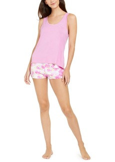 Betsey Johnson Vintage Terry Tank Top & Shorts Pajamas Set