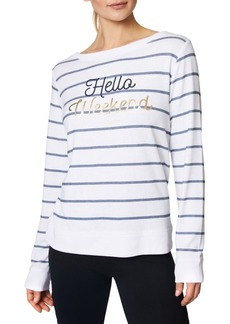 Betsey Johnson Weekend Striped Pullover