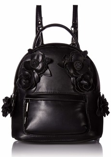 Betsey Johnson What in Carnation Mini Backpack black
