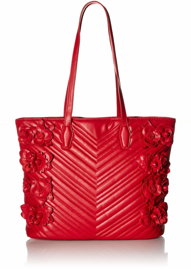 Betsey Johnson What in Carnation Tote red
