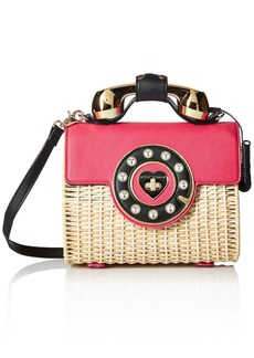Betsey Johnson Wicker  Color Phone Bag