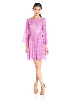 Betsey Johnson Women's 3/4 Sleeve Lace Dress