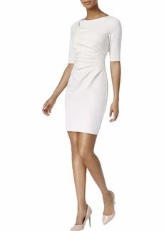 Betsey Johnson Women's 3/4 Sleeve Scuba Crepe Sheath Dress