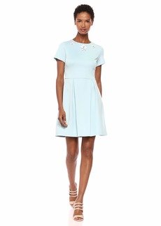 Betsey Johnson Women's A-Line Dress with Embellished Collar