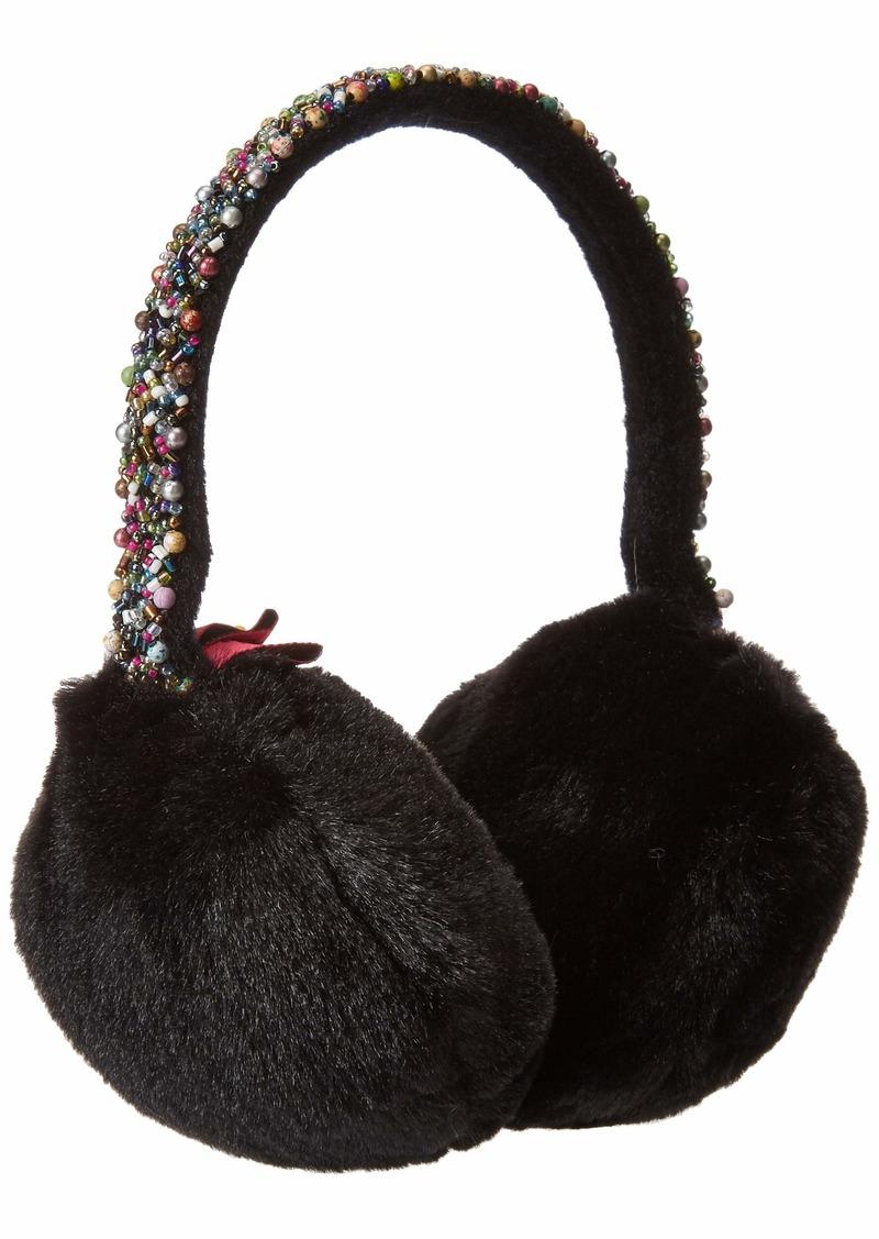 Betsey Johnson Women's AfterParty Earmuff black ONE SIZE