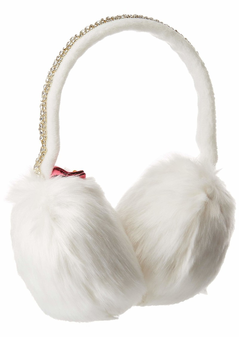 Betsey Johnson Women's AfterParty Jeweled Earmuff ivory ONE SIZE