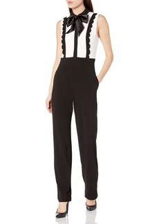 Betsey Johnson Women's All The Trimmings Sleeveless Jumpsuit