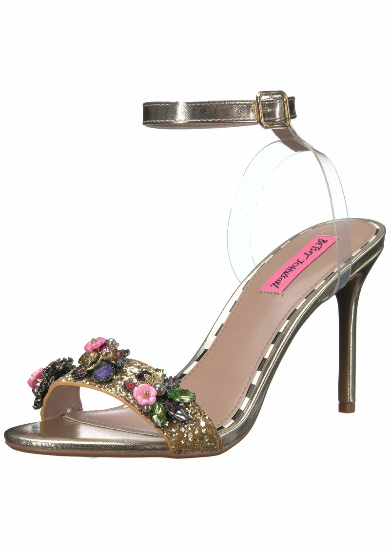 Betsey Johnson Women's Alyna Heeled Sandal   M US