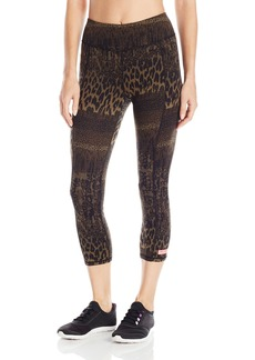 Betsey Johnson Women's Animal Lace Print Crop Legging