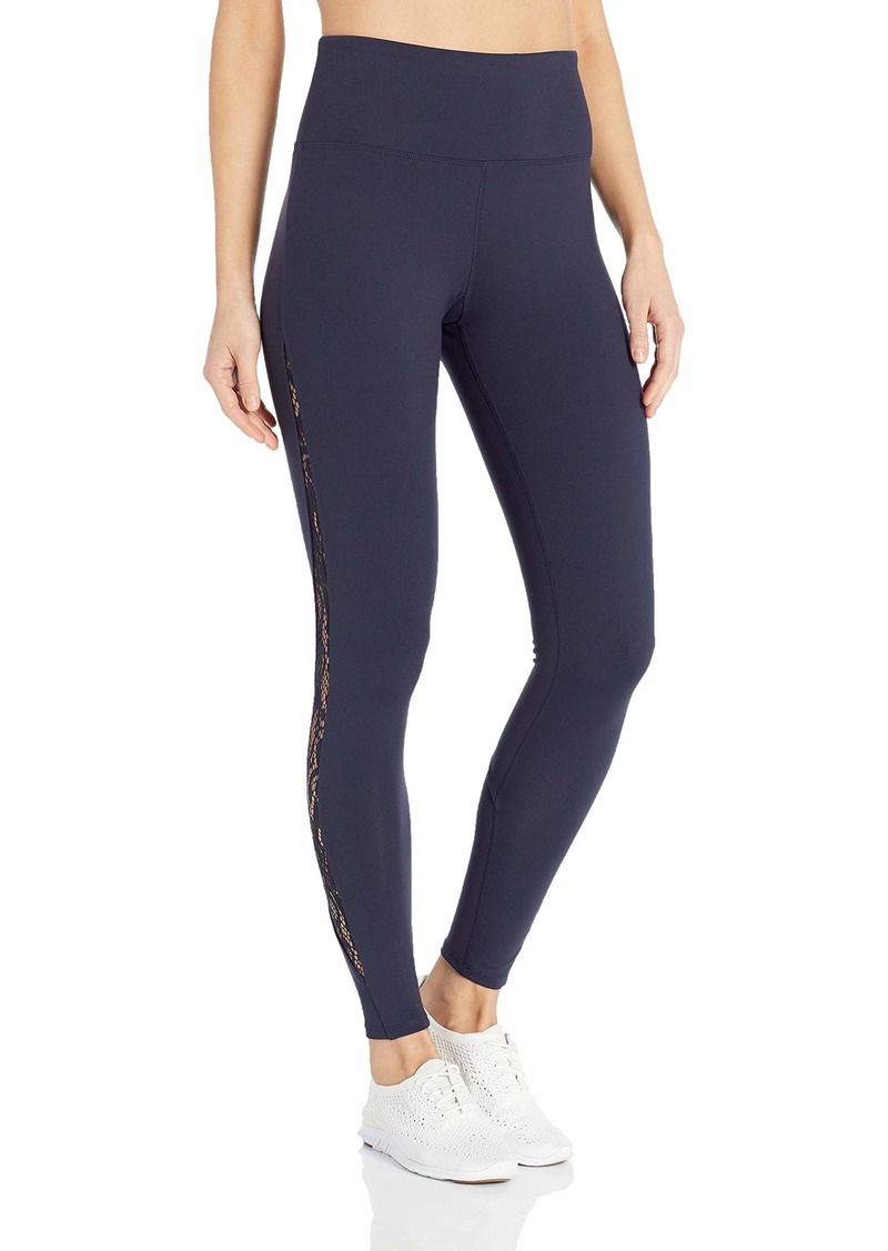 Betsey Johnson Women's Ankle Legging with Side Lace Mesh  Extra Small