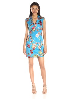 Betsey Johnson Women's Asian Floral Scuba Dress
