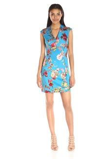 Betsey Johnson Women's Asian Floral Scuba Dress