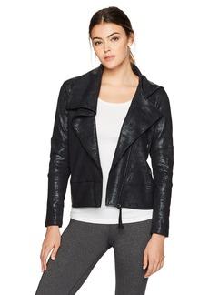 Betsey Johnson Women's Asymmetrical Moto Jacket  XL