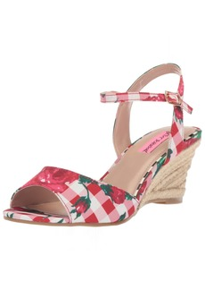 Betsey Johnson Women's Athena Espadrille Wedge Sandal