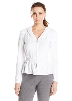 """Betsey Johnson Women's Baby Terry Graphic Hoodie Sonic White """"The Bride"""""""