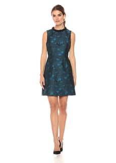 Betsey Johnson Women's Beaded Collar Jaquard Dress