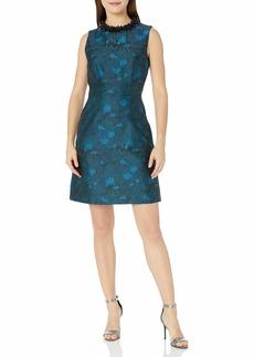 Betsey Johnson Women's Beaded Collar Jaquard Dress