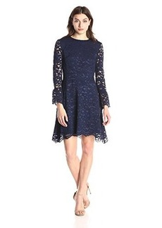 Betsey Johnson Women's Bell Sleeve Lace