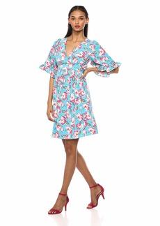Betsey Johnson Women's Boho Bell Sleeve Dress