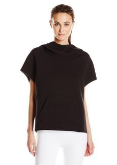 Betsey Johnson Women's Bonded Cutoff Sleeve Hoodie  XL