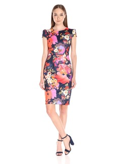 Betsey Johnson Women's Bouquet Floral Midi Dress
