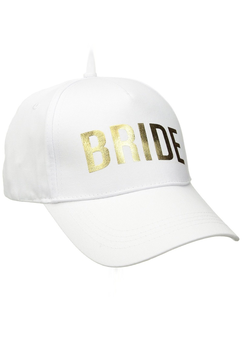 Betsey Johnson Betsey Johnson Women s Bridal Baseball Hats  907db0e3d