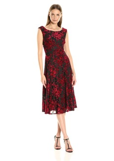 Betsey Johnson Women's Burnout Velvet Dress
