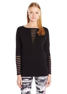 Betsey Johnson Women's Burnoutstripe Pullover  XS