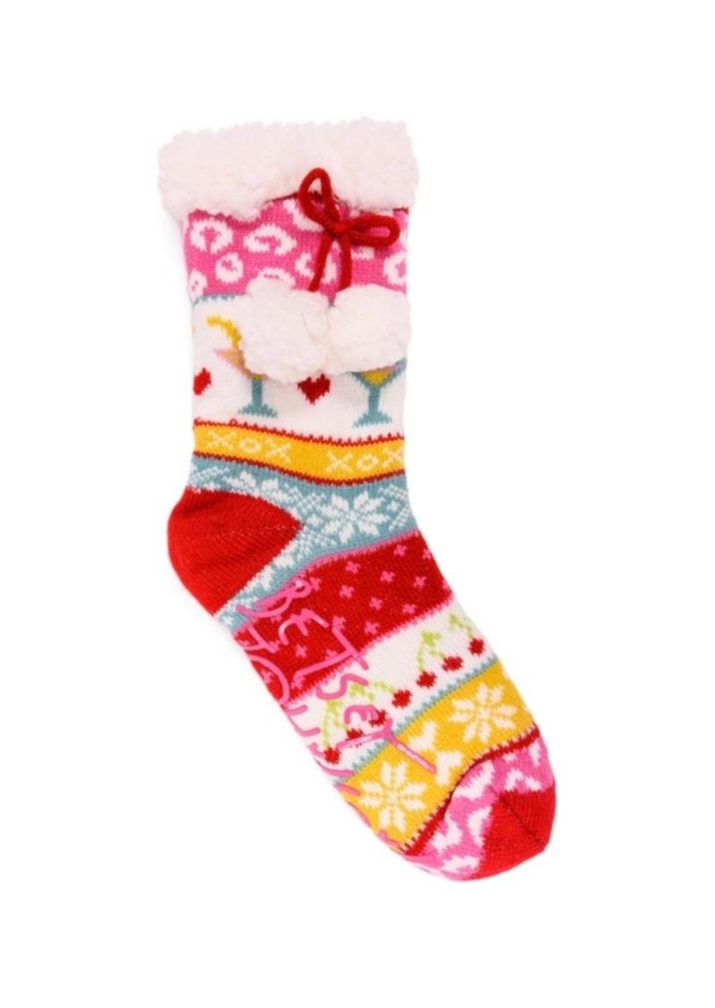 Betsey Johnson Women's Cabin Socks, 1 Pair