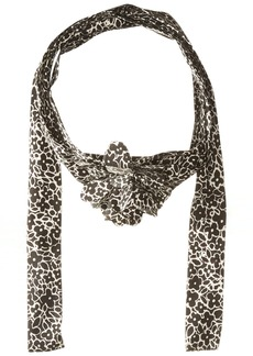 Betsey Johnson Women's Cartoon Floral Skinny Scarf black/White