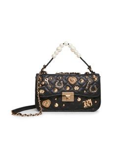Betsey Johnson Women's Charming Imitation Pearl Swag Flap Bag