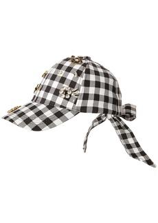 Betsey Johnson Women's Checkered Past Baseball Hat  one Size