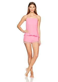 Betsey Johnson Women's Chiffon and Lace Short Set  L