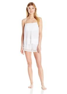 Betsey Johnson Women's Chiffon and Lace Short Set  XS