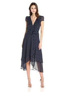 Betsey Johnson Women's Chiffon Dot Wrap Dress