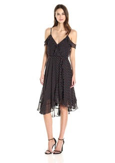 Betsey Johnson Women's Chiffon Wrap Dress