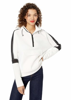 Betsey Johnson Women's Clear Taping Half Zip Pullover  Extra Large