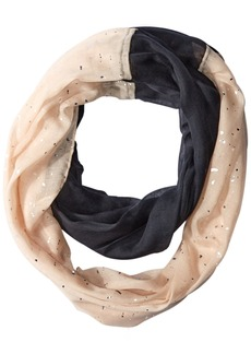 Betsey Johnson Women's Color Block Foil Crinkle Loop Scarf