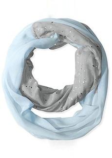 Betsey Johnson Women's Color Block Foil Crinkle Loop Scarf