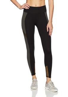Betsey Johnson Women's Colorblock Metallic Insert 7/8 Legging  XL