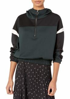 Betsey Johnson Women's Colorblocked Half Zip Pullover