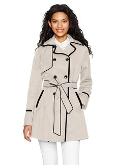 Betsey Johnson Women's Corset Back Trench  XL