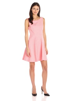 Betsey Johnson Women's Cotton Jacquard Fit and Flare Dress