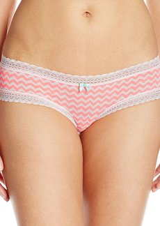 Betsey Johnson Women's Cotton Spandex Cheeky Panty