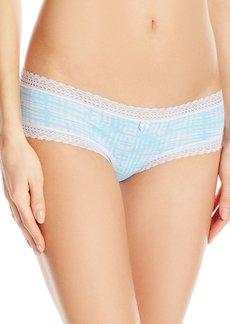 Betsey Johnson Women's Cotton Spandex Cheeky Panty  M