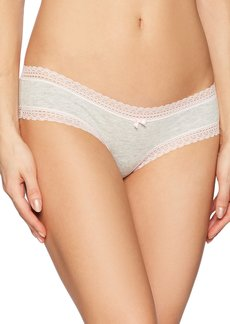 Betsey Johnson Women's Cotton Spandex Cheeky Panty  S
