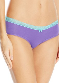 Betsey Johnson Women's Cotton Spandex Hipster Panty